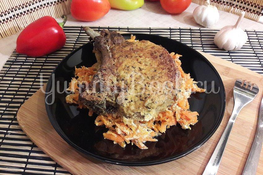 Корейка в сметанном маринаде с горчицей и чесноком