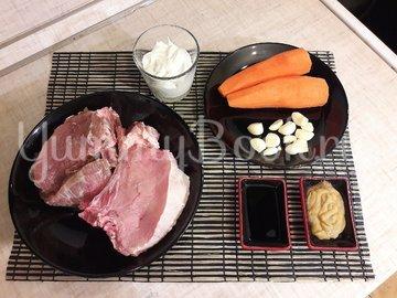 Корейка в сметанном маринаде с горчицей и чесноком - шаг 1