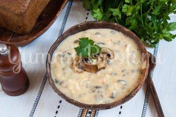 Польский грибной суп из шампиньонов - шаг 8