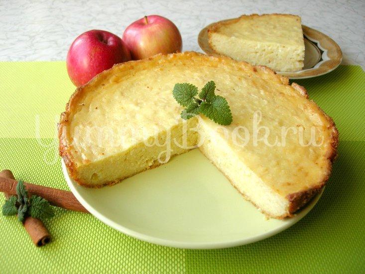 Творожная запеканка с яблоками и без муки - шаг 5