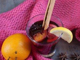 Безалкогольный вишнёвый глинтвейн