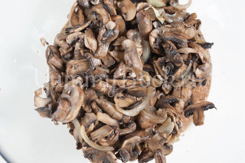 Киш с грибами - шаг 3
