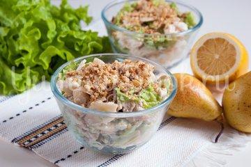 Салат с куриным филе и грушами - шаг 5