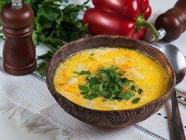 Сырный суп с вермишелью