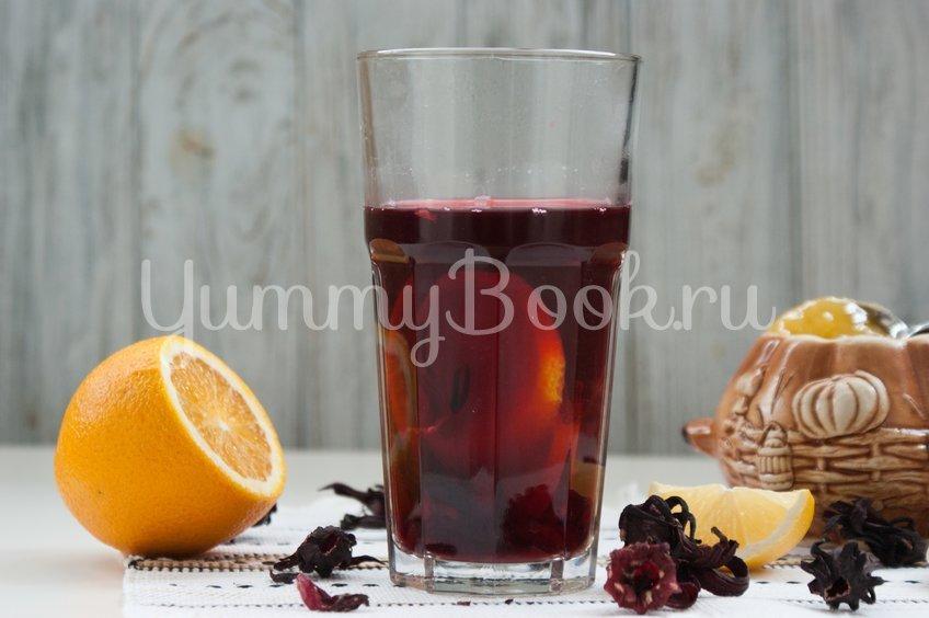 Чай каркаде с цитрусами