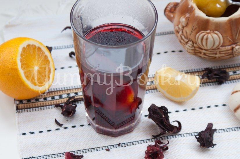 Чай каркаде с цитрусами - шаг 3
