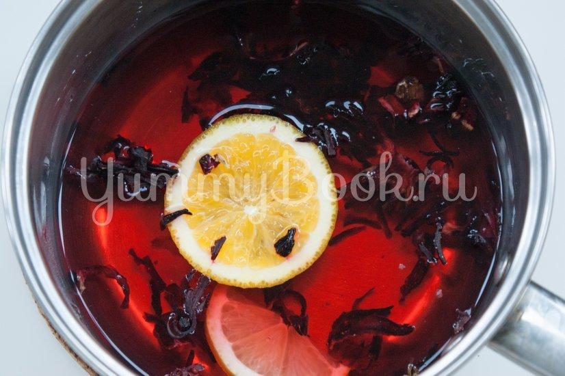 Чай каркаде с цитрусами - шаг 2