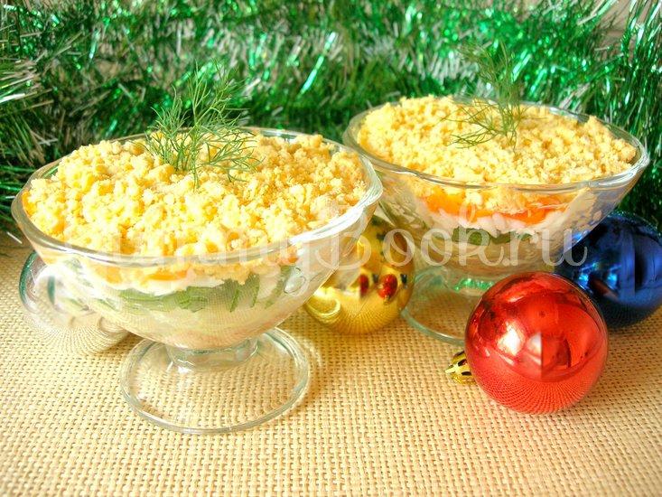 Новогодний салат-коктейль с печенью трески - шаг 5