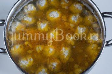 Гречневый суп с куриными фрикадельками - шаг 7