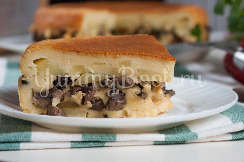 Наливной пирог с картофелем и грибами в мультиварке - шаг 11