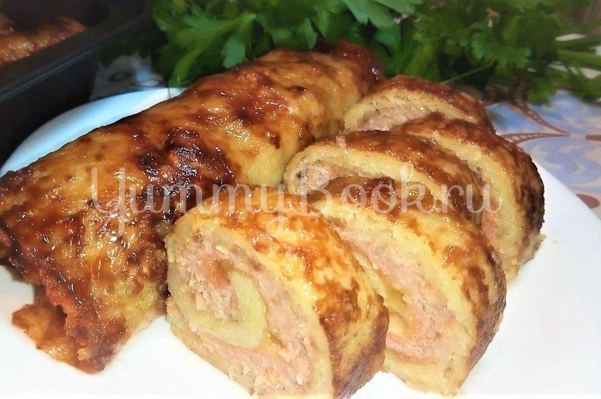 Рулеты из картофеля с мясом и сыром
