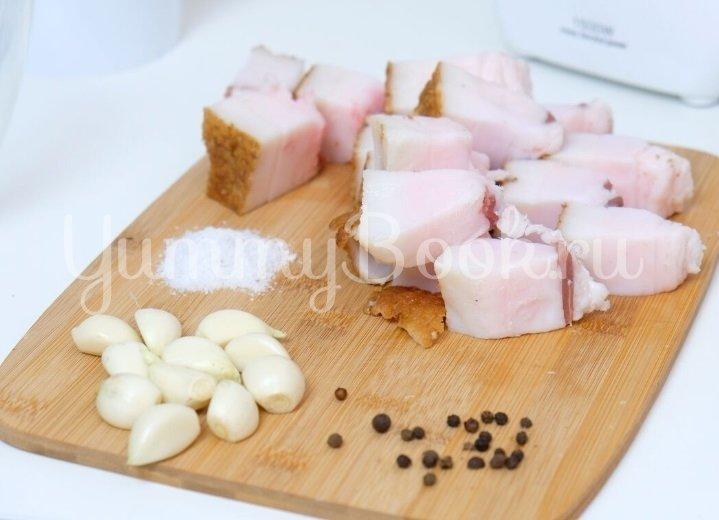 Бутербродная намазка с салом - шаг 2