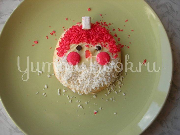 Новогодний десерт «Дед Мороз» - шаг 5