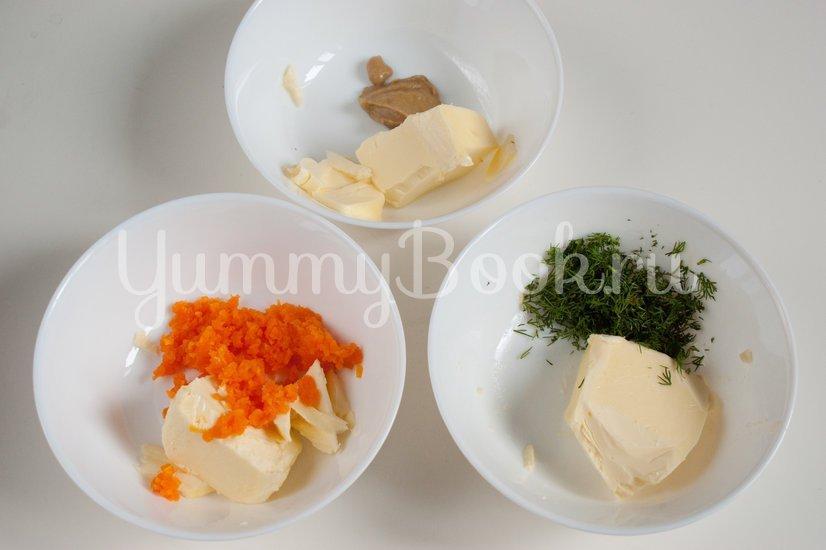Бутерброды с ароматным маслом и сельдью - шаг 1