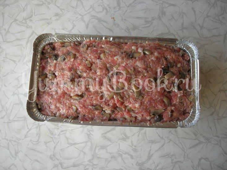 Мясной хлеб с грибами - шаг 3