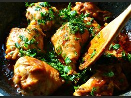 Курица по-адыгейски и адыгейская соль