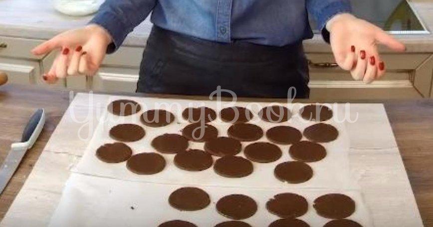 Печенье oreo с сырным кремом - шаг 2