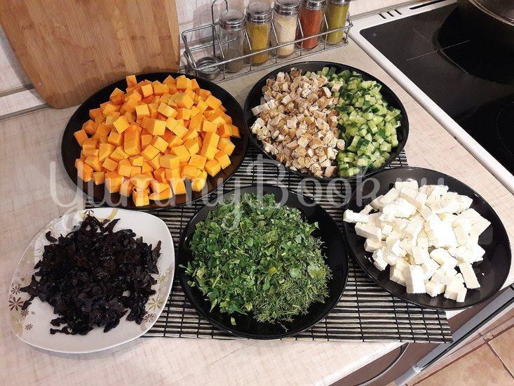Праздничный салат с тыквой - шаг 2