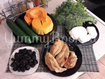 Праздничный салат с тыквой - шаг 1
