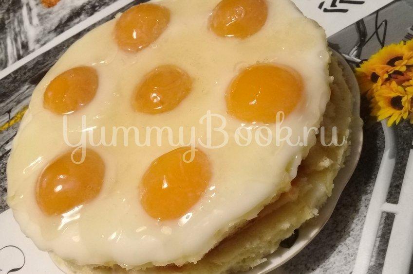 """Торт """"Яичница/Глазунья"""" в мультиварке"""