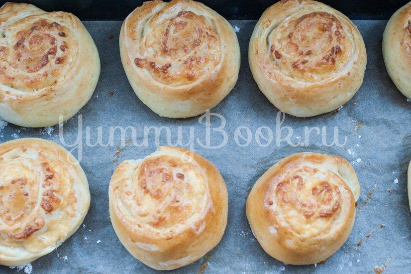 Дрожжевые булочки с сыром - шаг 10
