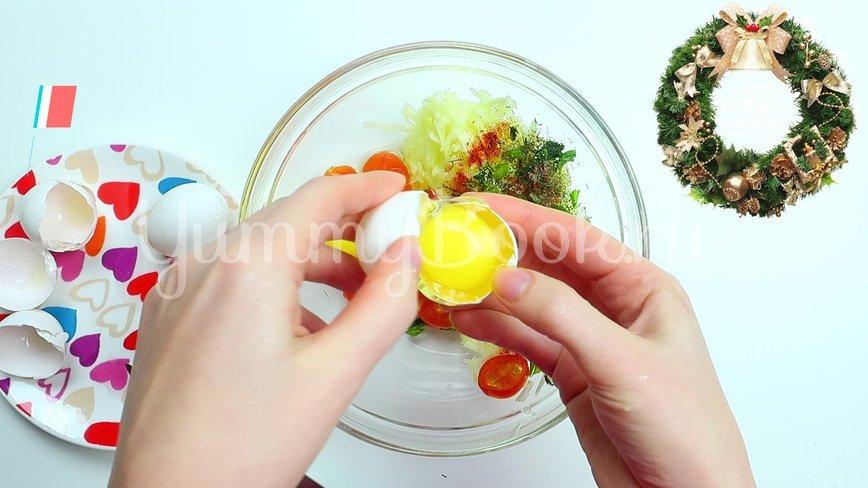 Омлет с овощами в электровафельнице - шаг 3