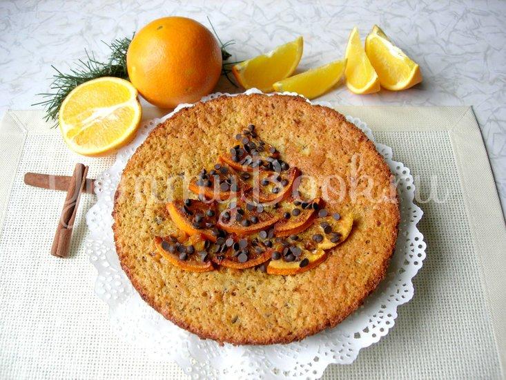Апельсиновый пирог с кусочками молочного шоколада - шаг 7