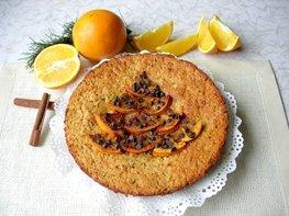 Апельсиновый пирог с кусочками молочного шоколада