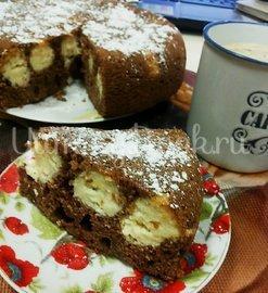 Пирог  шоколадный с творожными шариками в мультиварке - шаг 7