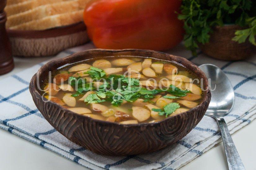 Суп с колбасой в мультиварке - шаг 7