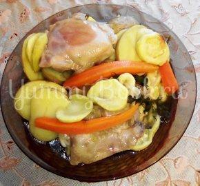 Куриные бёдра, запечённые с овощами в фольге - шаг 13