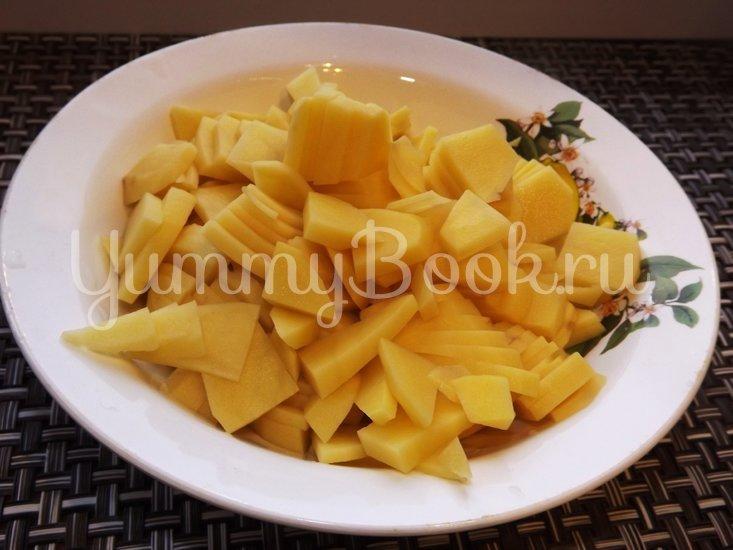 Пряный гороховый суп-похлебка с овощами и копчеными ребрышками - шаг 9