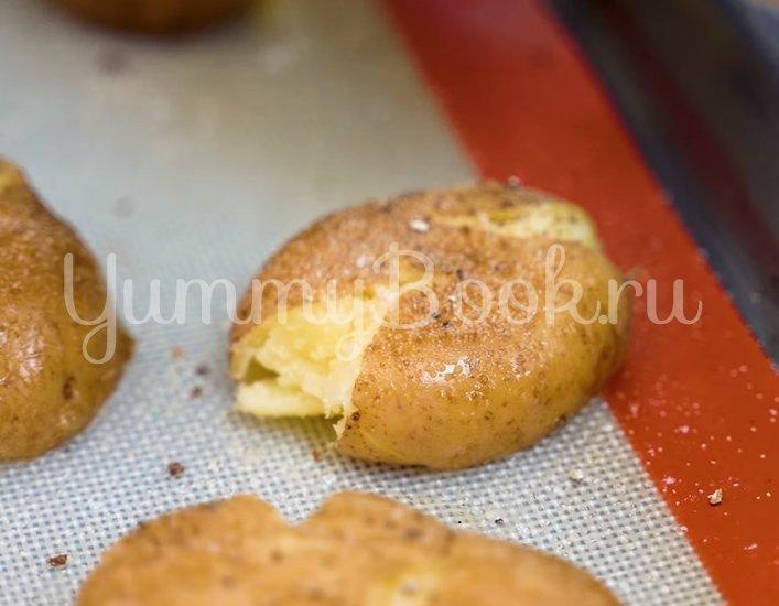 Хрустящая раздавленная картошка в духовке - шаг 3