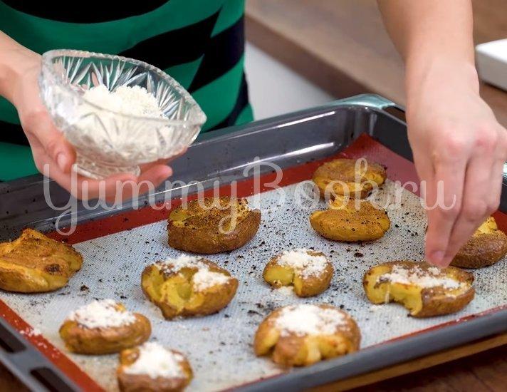 Хрустящая раздавленная картошка в духовке - шаг 5