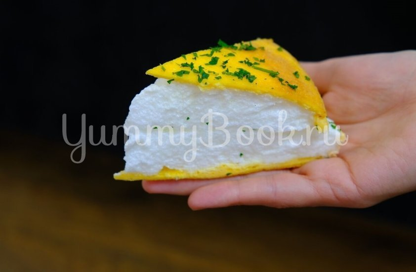 Пышный омлет Пуляр на сковороде - шаг 7