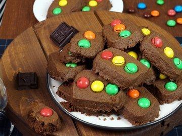 """Печенье """"Светофор"""" с конфетами M&M's"""