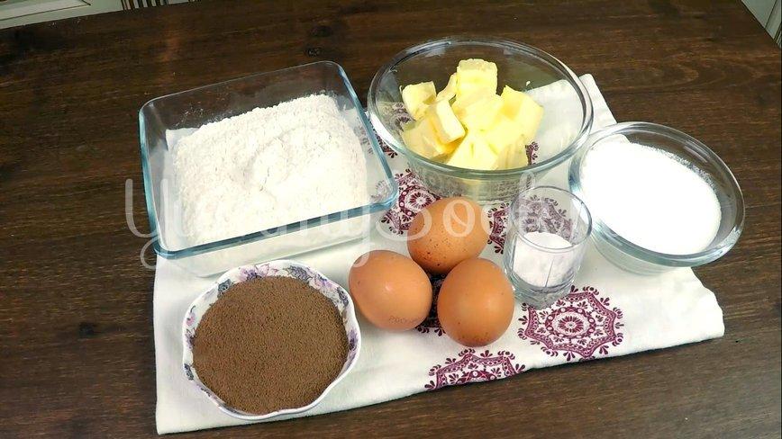 Мраморный кекс - шаг 1