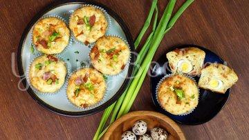 Закусочные кексы с яйцом и беконом - шаг 10