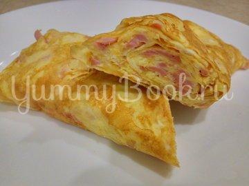 Омлет с колбаской и сыром - шаг 6