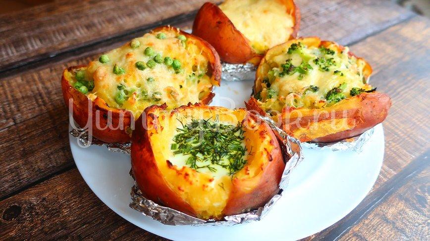 Крошка картошка в духовке с 4 начинками - шаг 4