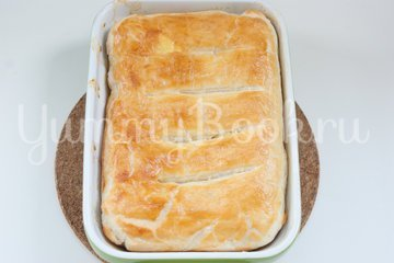 Рыбный пирог из слоёного теста - шаг 6