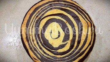 Пирог «Зебра» на сметане  - шаг 8