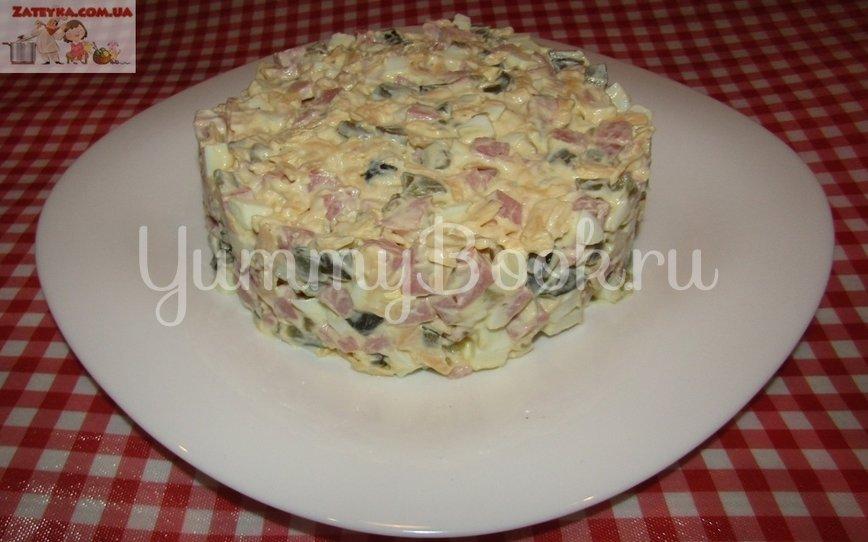 Салат с ветчиной и сыром «Домашний» - шаг 6