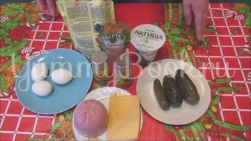 Салат с ветчиной и сыром «Домашний» - шаг 1