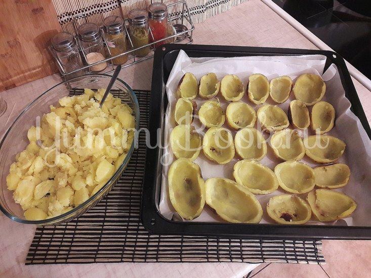 Запечённый фаршированный картофель с копчёной грудкой - шаг 8
