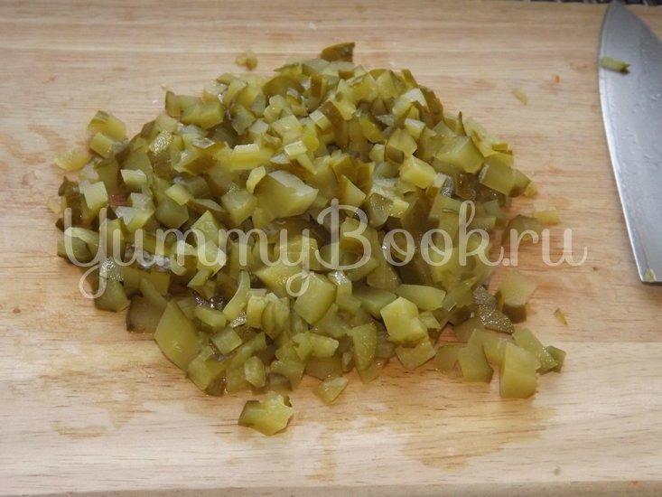 Винегрет с красной фасолью и маринованным луком - шаг 6