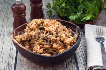 Рис с кабачками и баклажанами в мультиварке - шаг 6