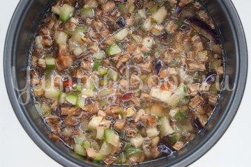 Рис с кабачками и баклажанами в мультиварке - шаг 4