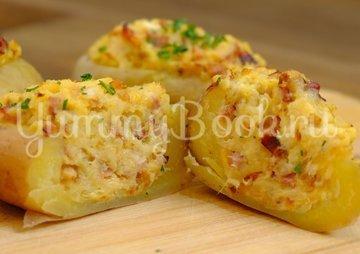 Фаршированный картофель, запеченный в духовке - шаг 8