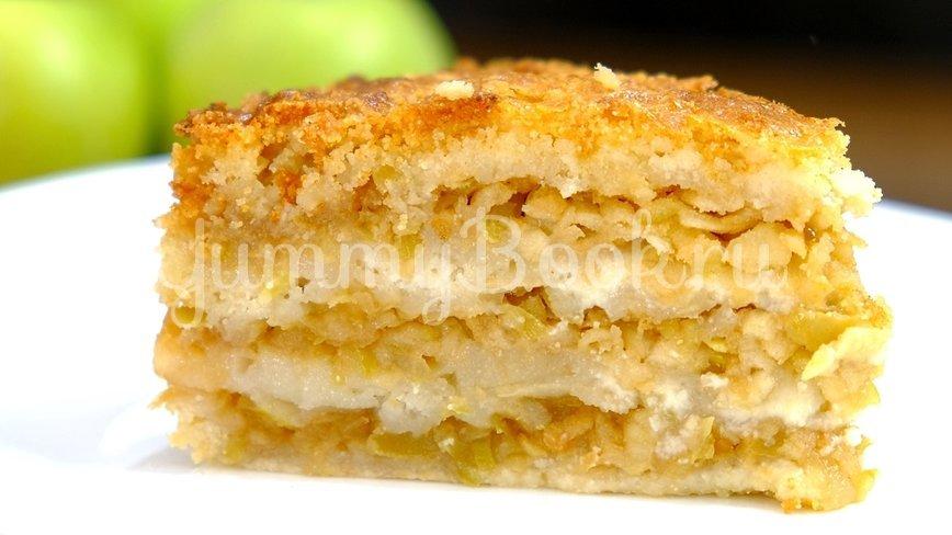 Яблочный насыпной пирог «Три стакана»  - шаг 6